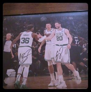 Authentic Celtics autographed poster